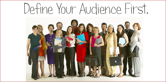 define your audience for your website.